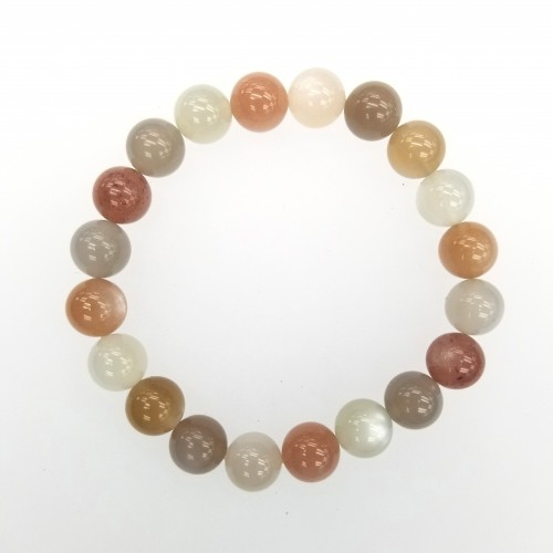 Moonstone (Mixed Color ) 10mm Bracelet