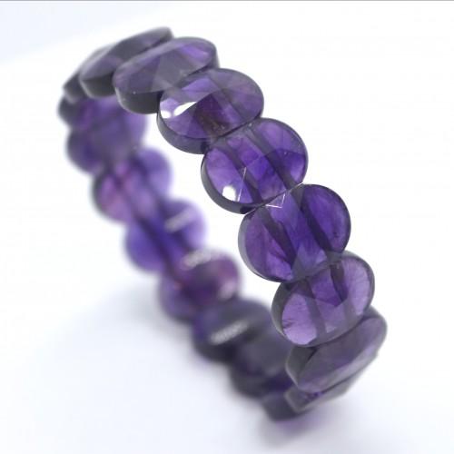 Amethyst oval faceted Bracelet