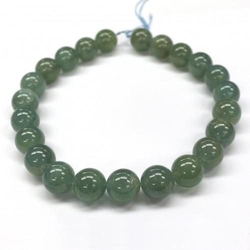 Aquamarine Green beads 18mm