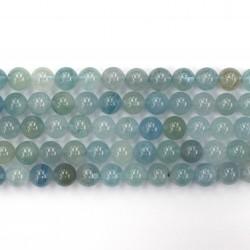 Aquamarine beads 10mm