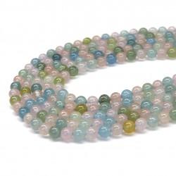 Beryl (mixed) round beads 6mm