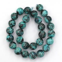 Chrysocolla beads 14mm