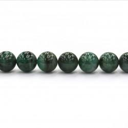 Emerald beads 18mm