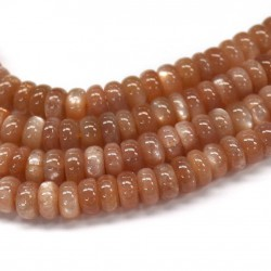 Moonstone (Peach color) Roundel 8mm