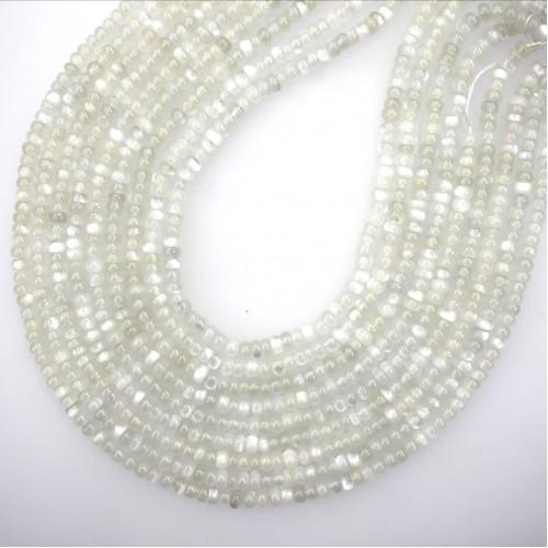 Moonstone (White color) Roundel 6mm
