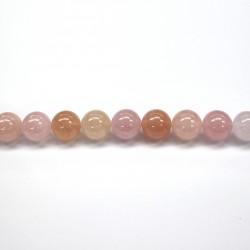 Morganite beads 18mm