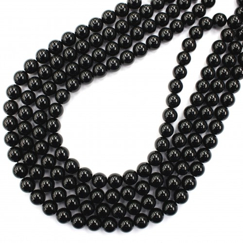 Morion Crystal Beads 10mm