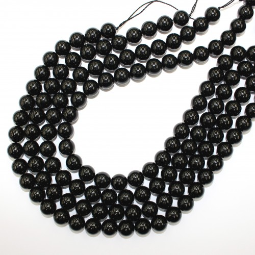 Morion Crystal Beads 12mm