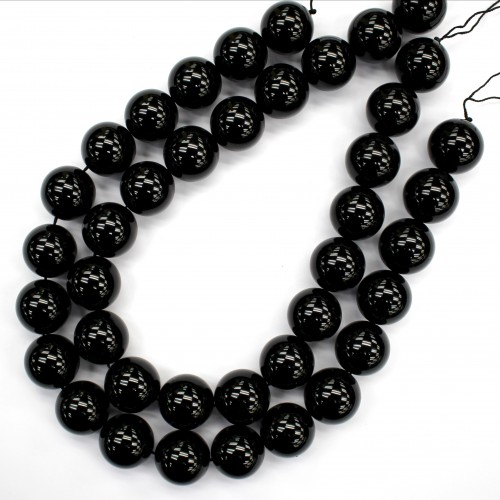 Morion Crystal Beads 20mm