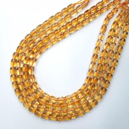 Citrine Barrel Beads 8x10mm~9x11mm